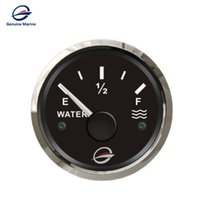 "Wholesale Marine Fuel Gauge - Genuine Marine GM-EP-E0050 2 6 52mm Waterproof Fuel Level Gauge Water Level Gauge Meter 0-190ohm Signal 52MM(2"") 12V 24V"