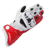 Wholesale Motorcycle Racing Glove Genuine - 9 Colors New 100% Original GP PRO Motorcycle Gloves TOP Genuine Leather Motorbike Long Gloves MotoGP Road Racing Team Gloves