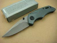 Wholesale folding utility knife china resale online - CHINA Knife GB Bear X03 Knife HRC Blade Plaid Aluminium Handle Folding Knife Utility Knives Outdoor Gear Xmas Gift F395L