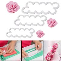 Wholesale fondant flowers wholesale - Plastic Rose Flower Cutter Maker Fondant Cake Decorating Tools Gumpaste SugarCraft Molds