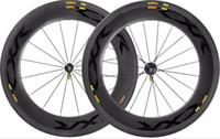 Wholesale Decals Bike Wheels - 700C 88mm depth carbon wheels 25mm width road bike wheelset with powerway R36 Ceramic hubs CXR decals