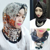 moslems hijab schal freies verschiffen großhandel-Freies Verschiffen neue Bandanas arbeiten Silk moslemischen Schal moslemischen hijab islamischen Schal moslemischen Kopftuch hijab um Beste verkaufenneuheit