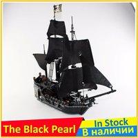 Wholesale Model Black Pearl Pirate Ship - Black Pearl Ship 4184 Building Blocks Model Toy For Children lepin 16006 Compatible Pirates of the Caribbean Bricks Figure Set