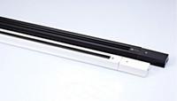 track für lampe großhandel-1m Track Rail 3 Draht Zubehör Tracking-Anschlüsse Universal-Aluminium-Leuchten für LED-Deckenstrahler Beleuchtung unten Lampe Weiß Schwarz