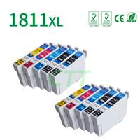 Wholesale Compatible Ink Epson - CTT 10pcs T1811T1812 T1813 T1814 Ink Cartridges Compatible For Epson XP-212 XP-215 XP-312 XP-315 XP-415 Printer