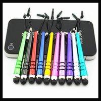 Wholesale Soft Tip Stylus - Wholesale-2000pcs Baseball Stylus Pen Portable Design for all Capacity Screen Device High Sensitive ultra-soft tip anti-scratch via DHL