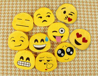 Wholesale Small Fabric Coin Purse - 500 pcs Hotest Emoji Coin Wallets Cute Mini Expression Coin Purse Cartoon Key Chain Small Bags Pendant for Women Girls Lovely Wallets EMJ001
