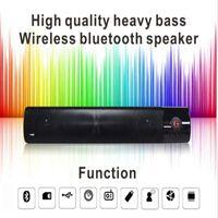 Wholesale Mini Loud Speaker Subwoofer Mp3 - WM-1300 Strip Bluetooth Speaker VS Pill XL Wireless Subwoofer Stereo Speaker Support Fm TF Card USB Slot Heavy Bass Loud DHL free MIS153