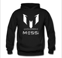 Wholesale Fans Jackets - Wholesale-High quality NO.10 Messi Hoodies coat Unisex Football Fan Messi Pullover sweatshirt messi jacket