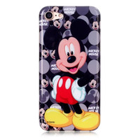 Wholesale Iphone Usa Flag Case - Mickey Minnie Mouse UK USA Flag Soft TPU Silicone+IMD Case For Iphone 7 Plus 5.5 Owl Bowknot Flower Believe Love Balloon Feather Cover Skin