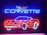 Wholesale Neon Light Sign Car - New Corvette Car Auto Real Glass Beer Bar Pub Neon Light Sign FAST SHIP GIFT
