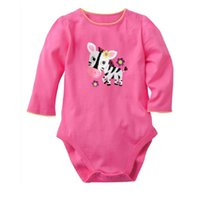 ternos de zebra venda por atacado-Zebra MARCA NOVA Roupas de Bebê Recém-nascidos Meninas Bodysuits Algodão Camisas Infantis Meninas trajes de fato do Corpo Macacões de uma peça roupas