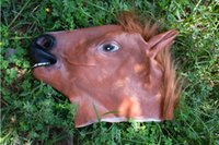 Cheval Creepy Masque Parti caoutchouc Costume Head Halloween Theater Prop Novelty latex Masques partie animal cartoon masque mieux