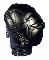 Wholesale Heavy Duty Hood - Heavy Duty PU Leather Padded Lockable Hood Mask Halloween 11 H #R501