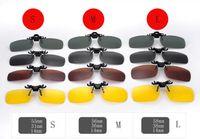Wholesale Online Night Light - Polarized light Sun Glasses Clip On Sunglasses Online 3 Size Driving Night Vision Lenses Anti-UVA Shades For Women Men Wholesale Price 20PCS