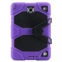Wholesale galaxy tab military case online - For Samsung GALAXY Tab A quot T350 quot T550 Armor Case Shock Drop Proof Hybrid Impact Military Defender Protective Cover W Kickst