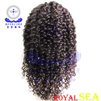 Wholesale Cheap Wigs Free Delivery - Cheap Jerry Curl Full Lace Wig Jerry Curl Human Hair Extensions Human Hair Wig Royal Sea Fast Delivery Free Shipping