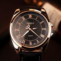 faixas de couro para homens venda por atacado-Relógio de luxo para homens moda luminosa mãos à prova d 'água de negócios casual dress watch pulseira de couro homem relógio do esporte