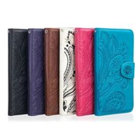 Wholesale Peacock Floral - For Sony Ericsson Xperia XA X Performance Strap Mandala Datura Flower Wallet Leather Case Peacock Floral Pouch Stand ID Card TPU Cover 1pcs