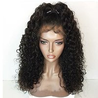 Wholesale Curly Wigs For White Women - Free Shipping Heat Resistant 1b# 2# 6# 27# 613# Afro Kinky Curly Lace Front Wig Gluelese Synthetic Lace Front Wigs for black women