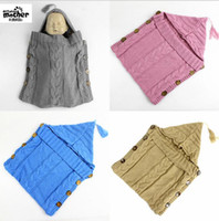Barato Poltrona Do Carrinho De Passeio-INS Baby Swaddle Wrap Infant Crochet Wraps Sacos de dormir Toddler Knitted Blanket Swaddle Crochet Baby Saco de dormir Sack Stroller Wrap D940 5