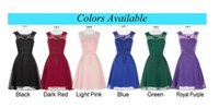 Wholesale Cocktail Party Gown Wholesale - 2016 newest Short dress sexy chiffon 2016 round collar sleeveless knee-length PROM dress, party dress Formal Prom Party Gowns