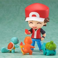 "Wholesale Mini Clay Dolls - Q Clay Pocket Monster 4"" Red Ash Ketchum 425 Poke PVC Mini Action Figure Model Doll Toy"