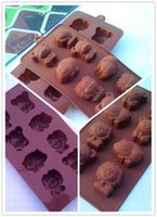 Wholesale Lion Mold - New Arrive Hippo Lion Bear Shape Silicone Mold, Jelly, Chocolate, Soap ,Cake Decorating DIY Kitchenware ,Bakeware