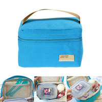 Wholesale Good Portable Insulated Thermal Cooler Bento Lunch Box Tote Picnic Storage Bag bolsa almuerzo sac repas bags for food E5M1 order lt no track