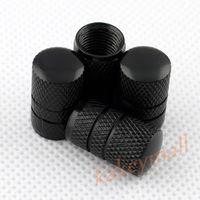 Wholesale auto parts wheels - 4pcs Auto Accessories Trim Wheel Rim Tire Tyre Valve Stem Air Dust Cap Cover Car Parts Black Style