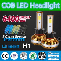 color temperature headlights achat en gros de-Kit de conversion luxe phare LED en or 3200LM 6000k 30W H1 Brillance étanche à l'eau Lampe antibrouillard DRL Tube de température de couleur auto