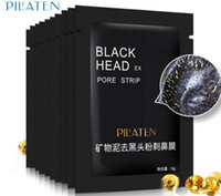 Wholesale Close Pores - 2017 PILATEN Tearing BLACK HEAD FACIAL MASK Nose Care Purifying Peel off Blackhead Close Pores Face Mask Remove Cleaner Deep Cleansing