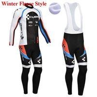 würfel winter trikot großhandel-Cube Winter Thermovlies Kleidung Radtrikot Trägerhose MTB Fahrradbekleidung Set Ropa Maillot Ciclismo 2019