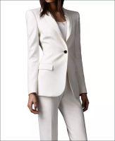 Wholesale Tuxedo Pants Suits For Women - 2017 Men Ivory women pant suits shawl lapel Long Sleeve fashion ladies suits slim fit one button back suits for women ent jacket+pants