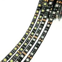 ingrosso nastro del pcb-più economico Black Strip Strip LED a LED 5050 SMD Warm White Rosso Verde Blu RGB Flessibile 5M Roll 300 Leds Ribbon Impermeabile / Non impermeabile