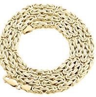 24-дюймовая 18-каратная цепь с золотым наполнением оптовых-Мужская реальный 14 K желтое золото заполнить поле византийский звено цепи ожерелье 24 дюймов