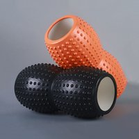 Atacado-Novo Design Massagem Rolo Músculos Yoga Foam Floating Point Gym Fitness Alta Densidade Blocos da ioga Exercícios 33x16CM Equipment