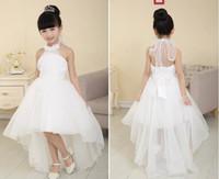 Wholesale Dresses Girl Age 12 - Hot Sell Flower Girl Dresses For Weddings Elegant Trailing Gown 3-12 Age Designer Flower Girl Gowns For Kids 2016