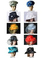 Wholesale Hat Formal Dresses - Mix color and style.All Year Around Church Dress Formal Hat Kentucky Derby Hat with Rhinestones band