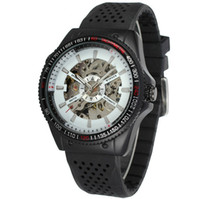 winner mens skeleton mechanical watch UK - Winner Mens Watches Top Brand Luxury Clock Men Automatic Mechanical Skeleton Watches Men Watch Sport Silicone Band Orologio Uomo SLZ3-4