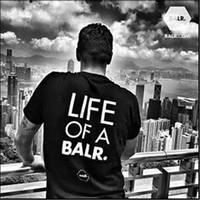levantar ropa de gimnasia al por mayor-Levantamiento de una camiseta balr tops balr camiseta de las mujeres de los hombres 100% algodón Fútbol fútbol ropa deportiva gimnasia camisetas marca de marca BALR