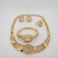 Wholesale Costume Big Necklace Sets - American fashion jewelry necklace 18k rose gold plated crazy big heavy necklace jewelry set ,costume Jewelry