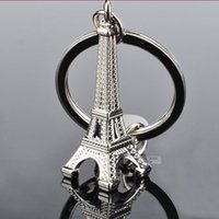 Wholesale Eiffel Tower Keyrings - Alloy Paris Eiffel Tower keychains Fashion Key Chains Charms Keyrings 50pcs lot Gift Wholesale Fashion Accessories