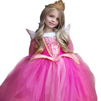 Wholesale Baby Sleeping Beauty - Prettybaby girls princess party dresses cosplay costume children kids sleeping beauty Auro luxurious lace tutu dress baby gift Pt0347#