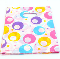 Wholesale Colored Zipper Bags - Hot sell ! 300pcs 20X25cm colored Round circle Plastic Bags Jewelry Gift Bag, Jewelry Pouches