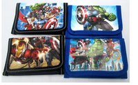 ingrosso super heros-Portafoglio bambini The Avengers super-eroi ragazzi e ragazze Portafoglio cartoon Iron Man Hulk portafogli per bambini
