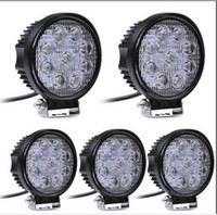 Wholesale Led Spot Motorcycle - 4 Inch 27W LED Work Light Bar for Indicators Motorcycle Driving Offroad Boat Car Tractor Truck 4x4 SUV ATV Flood 12V