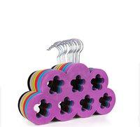 gürtel lagern großhandel-Funktionale 2016 neue Stil Pulm Velvet Hanger für Schal Gürtel Krawatte Schlüssel Schmuck Verwendung in Home Store Supermaket