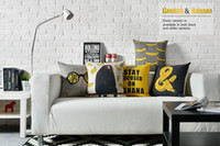 Rimanere a fuoco su Banana giallo scimmia amore pop art biancheria da letto cuscino decorativo copertura della cassa Euro cuscini Art Home Decor regalo