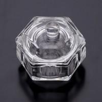 Wholesale Bowl Cup Acrylic Liquid Dappen - Wholesale- Crystal Glass Dappen New Nail Art Tools Acrylic Dappen Dish Bowl Cup Liquid Powder Cup Glassware Tool Nail Art Equipment tools